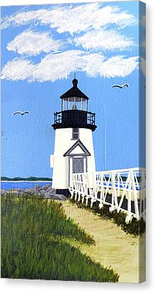 Brant Point Lighthouse Painting Canvas Print by Frederic Kohli
