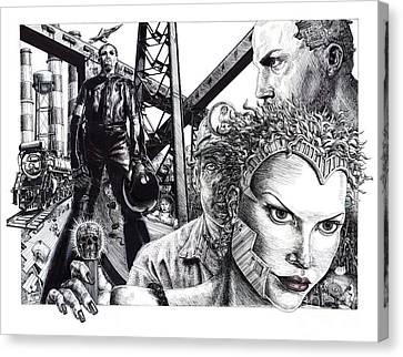 Brave New World Canvas Print by Adesina Sanchez