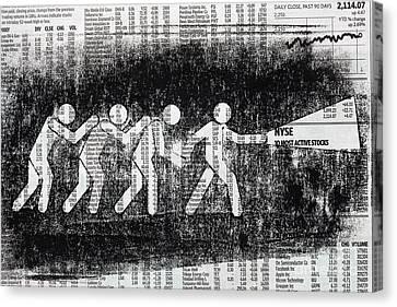 Brave Stock Broker Canvas Print by Igor Kislev