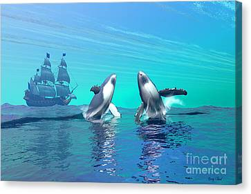 Breaching Canvas Print by Corey Ford