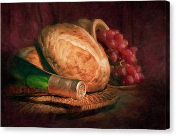 Bread And Wine Canvas Print by Tom Mc Nemar