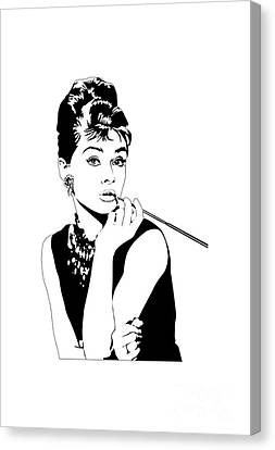 Breakfast At Tiffany's Canvas Print by Amy Wilkinson