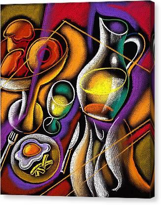 Breakfast Canvas Print by Leon Zernitsky