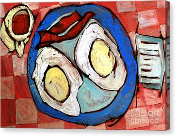 Breakfast Of Champions Rephotographed Canvas Print by Charlie Spear