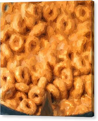 Breakfast Paint Canvas Print by Dan Sproul