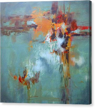 Breaking Free Abstract Canvas Print by Donna Shortt