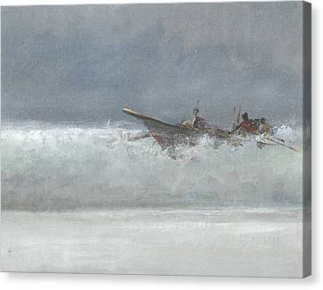 Breaking The Surf  Sri Lanka Canvas Print by Lincoln Seligman