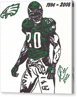 Brian Dawkins 3 Canvas Print by Jeremiah Colley