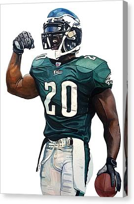 Brian Dawkins - Philadelphia Eagles Canvas Print by Michael Pattison