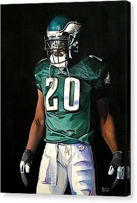 Brian Dawkins Weapon X - Philadelphia Eagles Canvas Print by Michael  Pattison