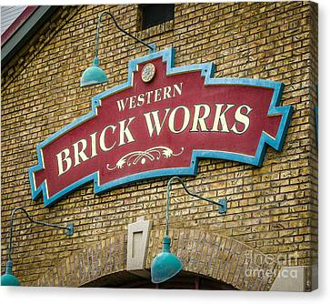 Brick Works Canvas Print by Perry Webster
