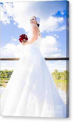 Bride In White Wedding Dress Canvas Print by Jorgo Photography - Wall Art Gallery