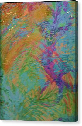 Bridge Connecting Fleeting Thoughts Canvas Print by Anne-Elizabeth Whiteway