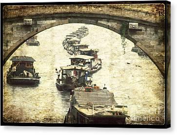 Bridge In Souzhou Canvas Print by Heiko Koehrer-Wagner