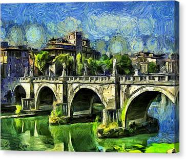 Bridge Of Angels - Da Canvas Print by Leonardo Digenio