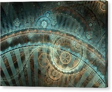 Bridge Of Time Canvas Print by David April