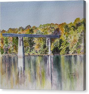 Bridge Over The Cumberland Canvas Print by Patsy Sharpe