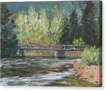 Bridge Over The Poudre Canvas Print by Mary Benke