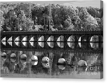 Bridge Reflection Canvas Print by Karol Livote