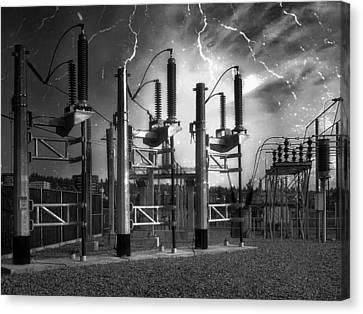 Bridge St Power Substation 2 - Spokane Washington Canvas Print by Daniel Hagerman