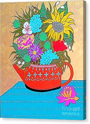 Bright Bouquet Canvas Print by Amy Sorrell