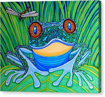 Bright Eyes 2 Canvas Print by Nick Gustafson
