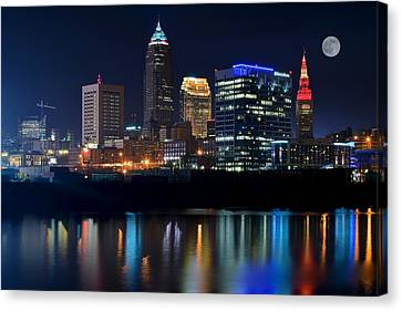 Bright Lights City Nights Canvas Print by Frozen in Time Fine Art Photography
