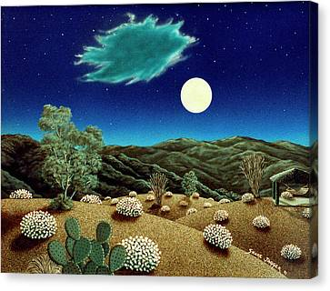 Bright Night Canvas Print by Snake Jagger
