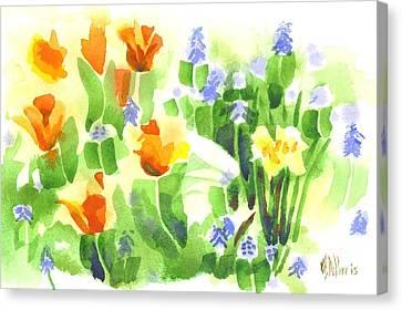 Brightly April Flowers Canvas Print by Kip DeVore