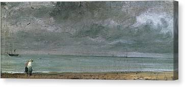 Brighton Beach Canvas Print by John Constable