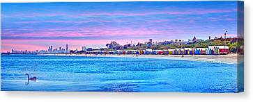 Brighton Beach Sunset Canvas Print by Az Jackson