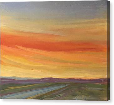 Brilliant Sunrise Canvas Print by Jo Anne Neely Gomez