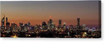 Brisbane City Skyline Canvas Print by Az Jackson