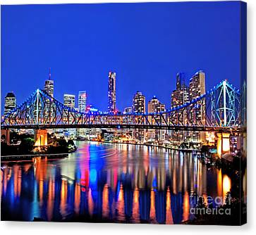 Brisbane In Late Evening Canvas Print by Chris Smith