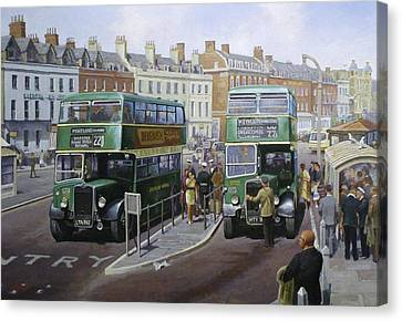 Bristols At Weymouth Canvas Print by Mike  Jeffries