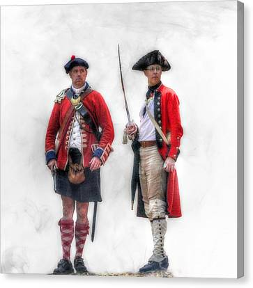 British Officer And Soldier Canvas Print by Randy Steele