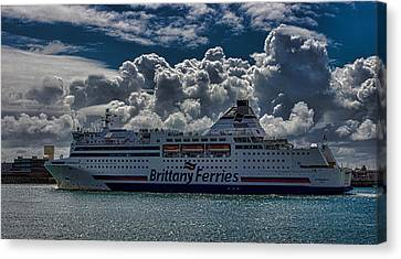 Brittany Ferry Canvas Print by Martin Newman