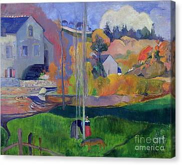 Brittany Landscape Canvas Print by Paul Gauguin