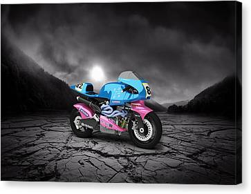 Britten V1000 1995 Mountains Canvas Print by Aged Pixel
