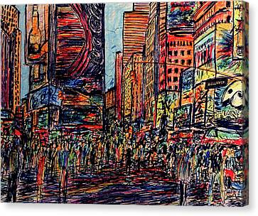 Broadway, New York  Canvas Print by K McCoy