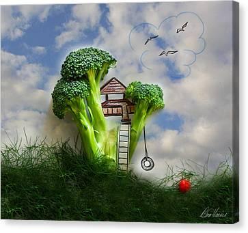 Broccoli Treehouse Canvas Print by Diana Haronis