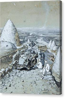 Broken Down In The Middle East Canvas Print by Donald Maxwell
