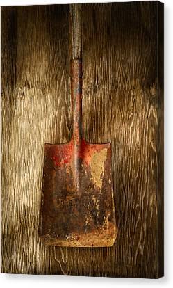 Tools On Wood 2 Canvas Print by Yo Pedro