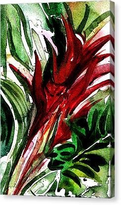 Bromelia Canvas Print by Mindy Newman
