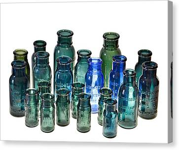 Bromo Seltzer Vintage Glass Bottles Collection Canvas Print by Marianna Mills