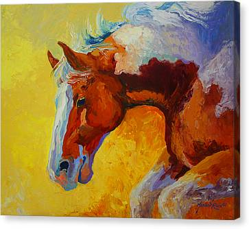Bronc I Canvas Print by Marion Rose