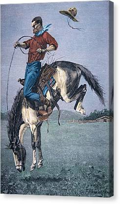 Bronco Buster Canvas Print by Frederic Remington