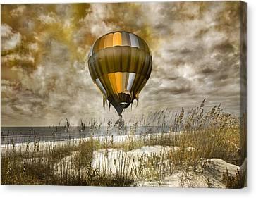 Bronze Beach Ballooning Canvas Print by Betsy Knapp