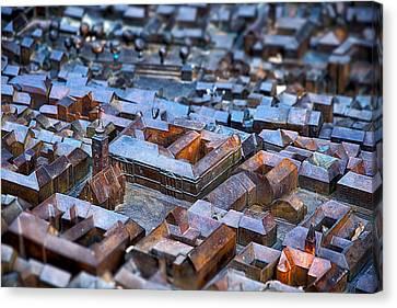 Bronze Scale Model - Zagreb Croatia Canvas Print by Stuart Litoff
