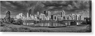 Brooding Above The Burgh Canvas Print by Jennifer Grover